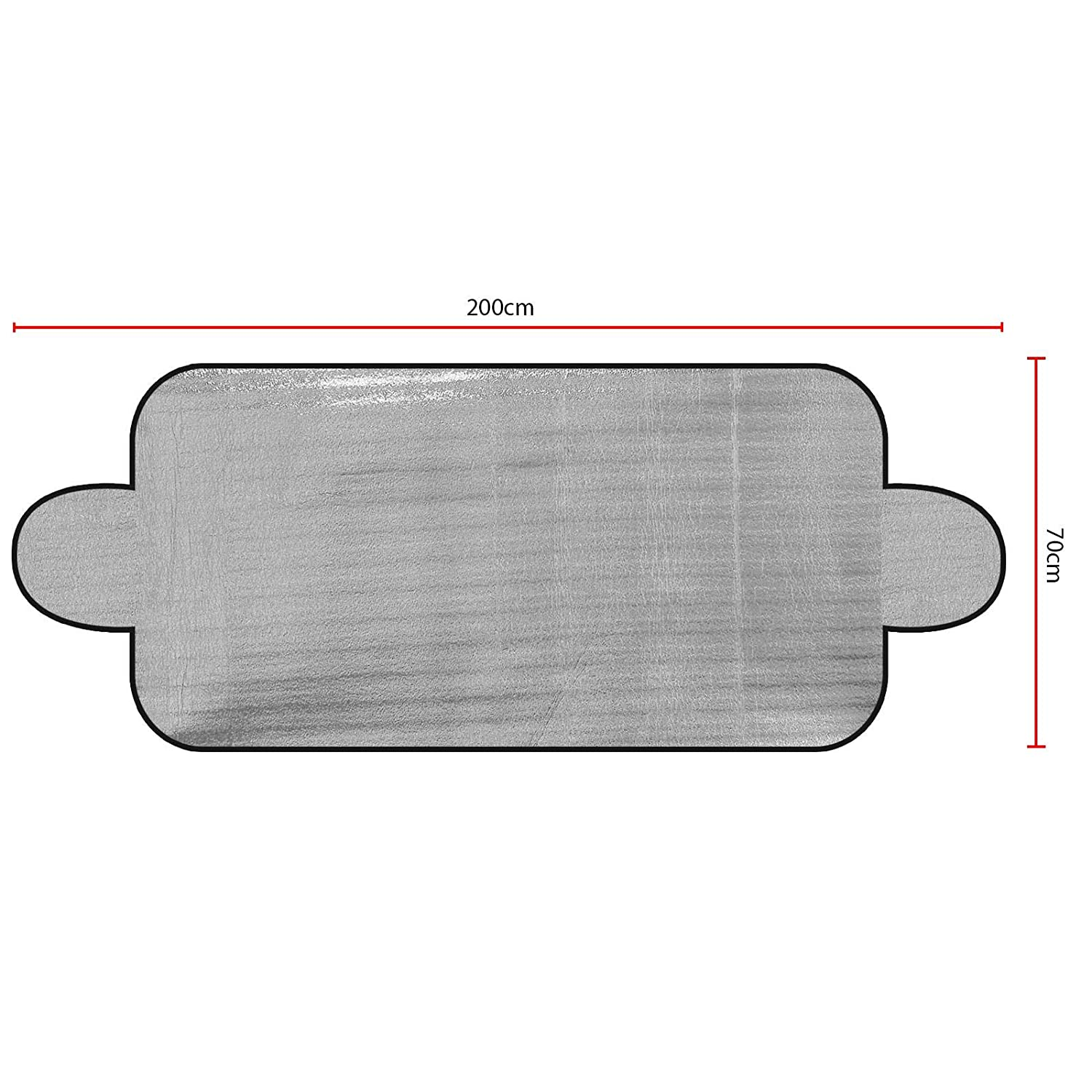 ASAB Large 200x70cm Car Windscreen Sun Shade UV Protector Heat Resistant Reflective Block Van Vehicle Front Window Foldable Foil Cover Thermal Shades Cars