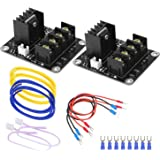 3D Printer Heat Bed Power Module General Add-on Hot Bed Mosfet MOS Tube High Current Load Module for 3D Printer Hot Bed/Hot End (2 Pack)