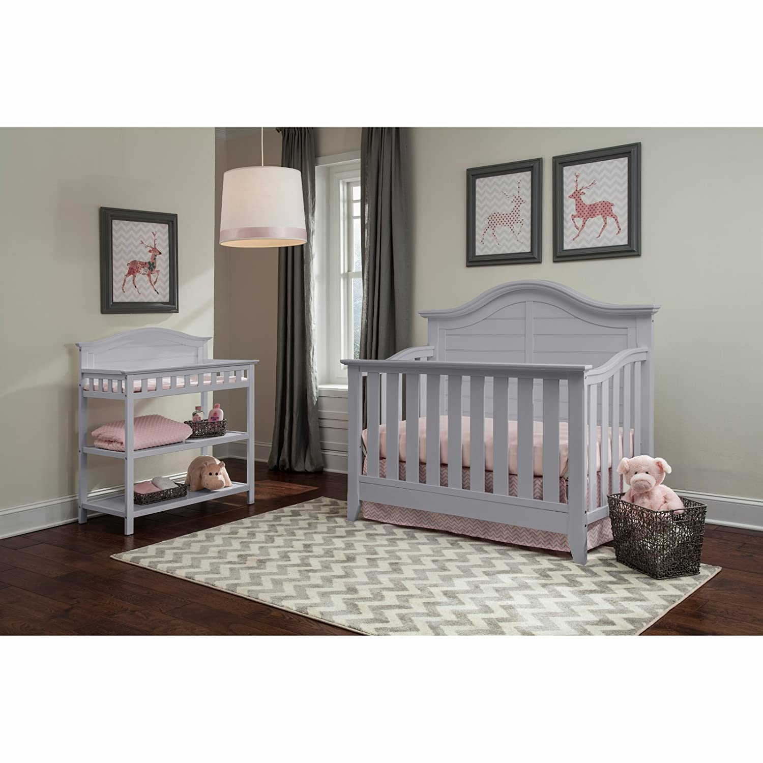Beau Amazon.com : Thomasville Kids Southern Dunes Lifestyle 4 In 1 Convertible  Crib, Pebble Gray, Easily Converts To Toddler Bed Day Bed Or Full Bed, ...