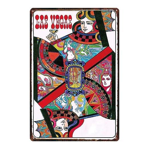 Poker Queen Póster de Pared Metal Creativo Placa Decorativa ...