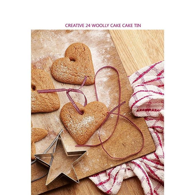 Amazon.com: Amyove 24 UNIDS Molde de Galletas y tartas, molde de Acero Inoxidable, Cake Biscuit Mold, Suministros de Cocina: Home & Kitchen