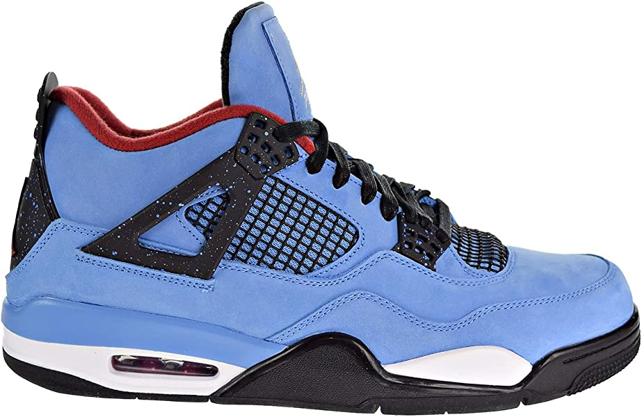 ba371904a15 Nike Air Jordan 4 Retro Travis Scott Cactus Jack Men's Shoes University Blue /Black 308497