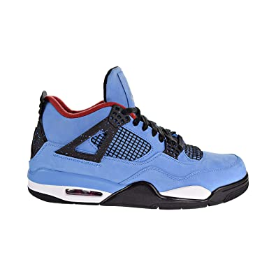 new arrival 912bd a4a2d Amazon.com   Nike Air Jordan 4 Retro Travis Scott Cactus Jack Men s Shoes  University Blue Black 308497-406 (7.5 D(M) US)   Basketball
