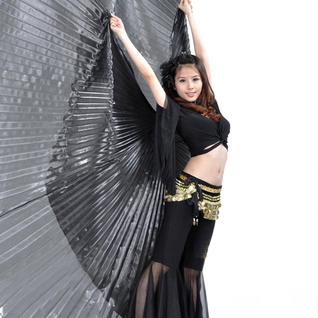 Alas de Isis para practicar danza del vientre egipcia, ideal para regalar, para Navidad, como disfraz, etc., de la marca Calcifer, negro