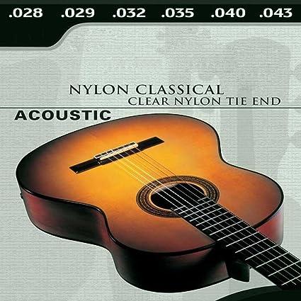 Ociodual Juego 6 Cuerdas para Guitarra Acustica Española Clasica De Nylon Guitar M03