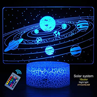 HYODREAM Solar System Optical Illusion Lamp Universe Space Galaxy Night Light for Kids Boys and Girls as on Birthdays or Holidays: Home & Kitchen [5Bkhe0902711]