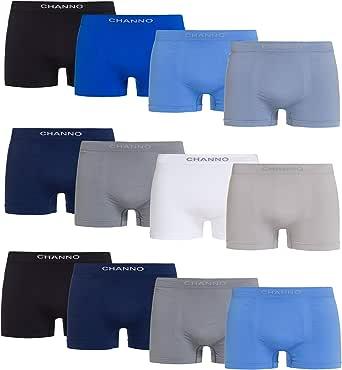 Boxers de Licra Sin Costuras de Topos Suaves y Cómodos para Hombre. Pack de 12 Calzoncillos