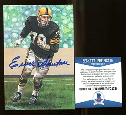 Ernie Stautner Signed Goal Line Art GLAC Autographed Steelers Beckett BAS  F04731 - Beckett Authentication 56f18346e