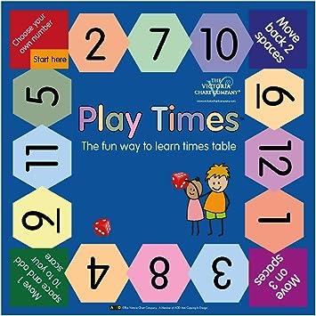 Juego de mesa Play Times – La manera divertida de aprender mesas de tiempo, perfecto para matemáticas