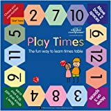 Play Times Table Game - the fun way to learn times tables, perfect for maths and multiplication (up to 12x tables). 30 x 30cm laminated game board. Suitable for key stage 1 & 2 school years.