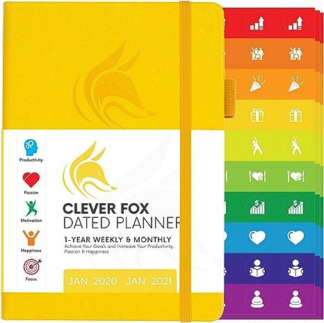 Amazon.com: Clever Fox Planner 2020 - Agenda semanal y ...