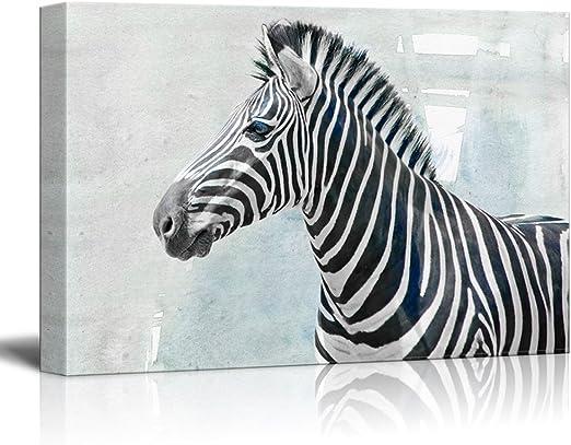 Zebra and Foal Canvas Animal Kingdom Landscape Wall Art Picture Home Decor