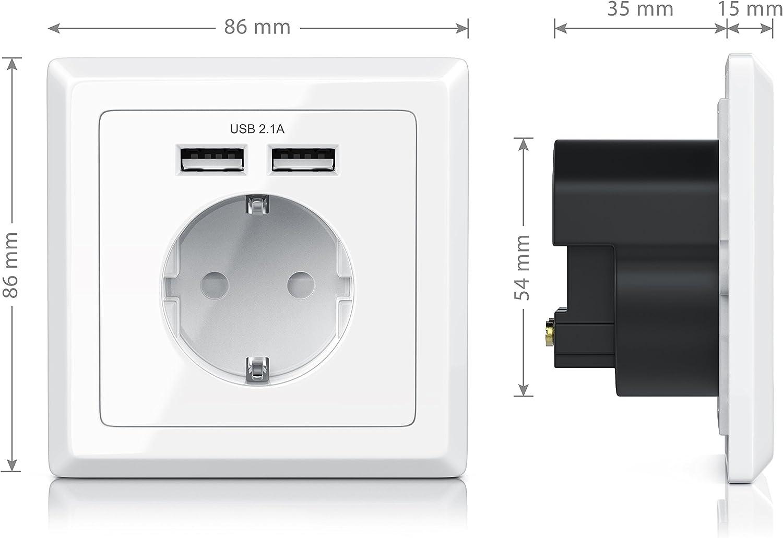 Enchufe de pared con 2 x USB