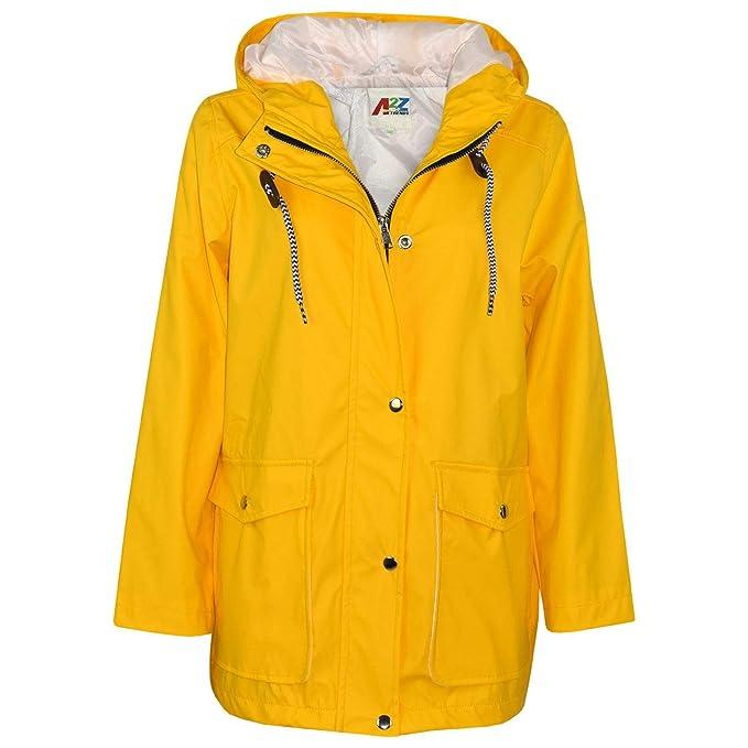 Amazon.com: Chaqueta impermeable con capucha amarilla para ...