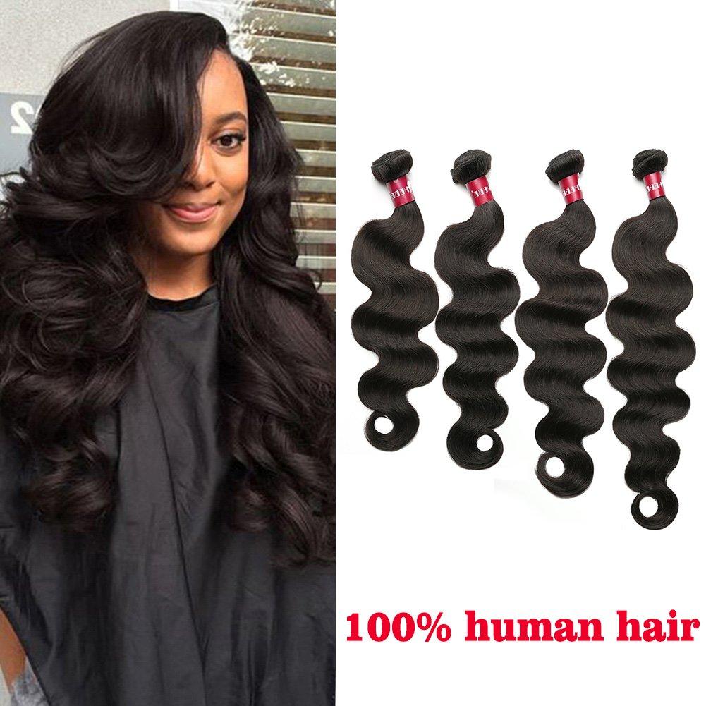 Amazon Hebe Peruvian Hair 4 Bundles 18 20 22 24 Inches