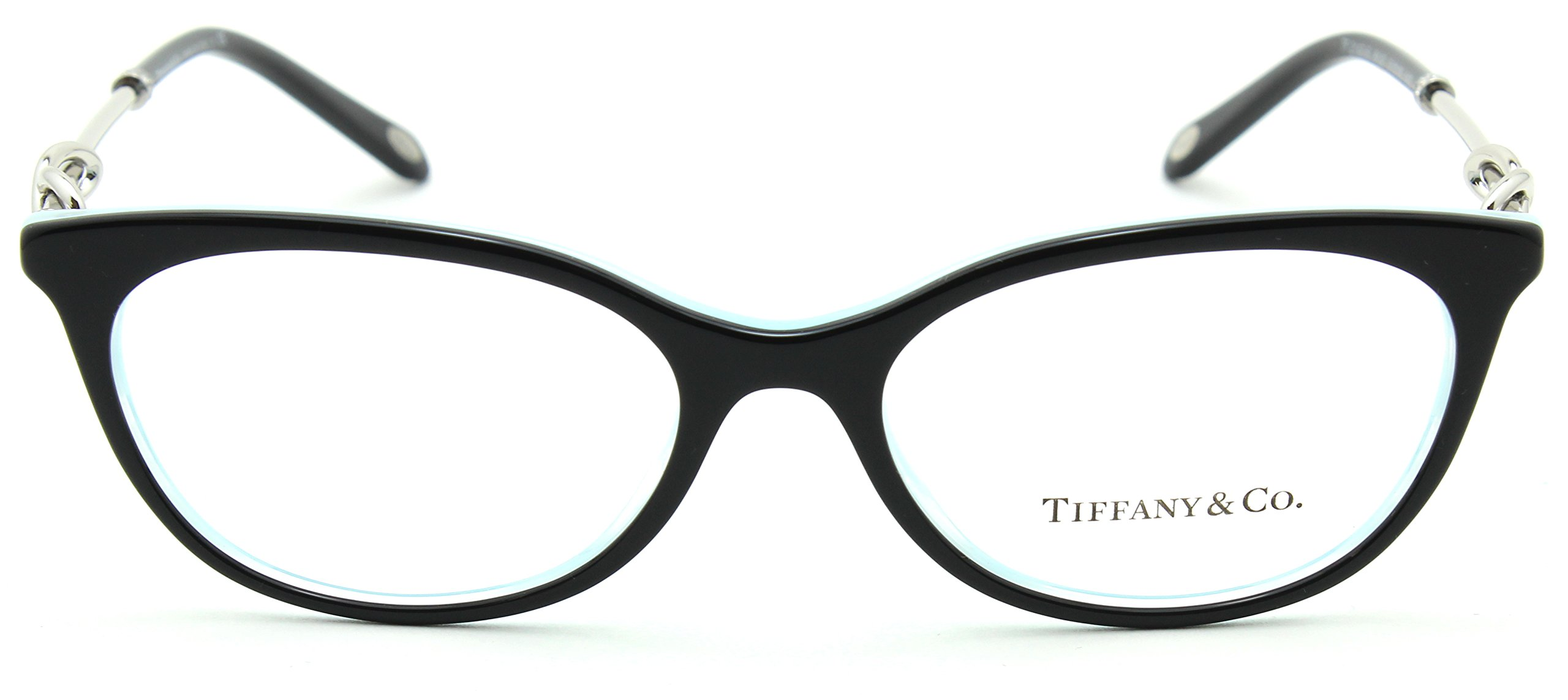 Tiffany & Co. TF 2142-B Women Eyeglasses RX - able Frame (BLACK/STRIPED BLUE 8193, 51) by Tiffany & Co. (Image #2)