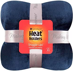 Heat Holders Snuggle Ups Oversized Luxury Thermal Throw-Blanket (Navy)
