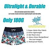 MaaMgic Mens Quick Dry Printed Short Swim Trunks