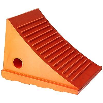 "Roadblock UC1500-4.5 Impact-Absorbing Urethane Industrial Wheel Chock, Orange, 4.5 lbs, 11"" Length x 7.75"" Width x 8"" Height: Industrial & Scientific"