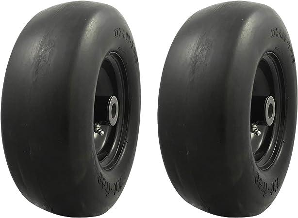 MARASTAR 00232-2pk Universal Fit Flat Free 11x4.00-5 Lawnmower Tire Assembly...