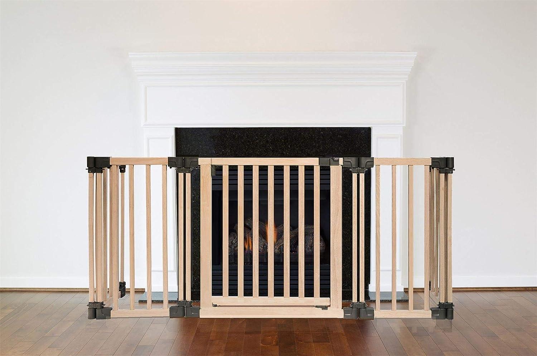 89D x 160W cm Safetots Wooden Multi Panel Fire Surround