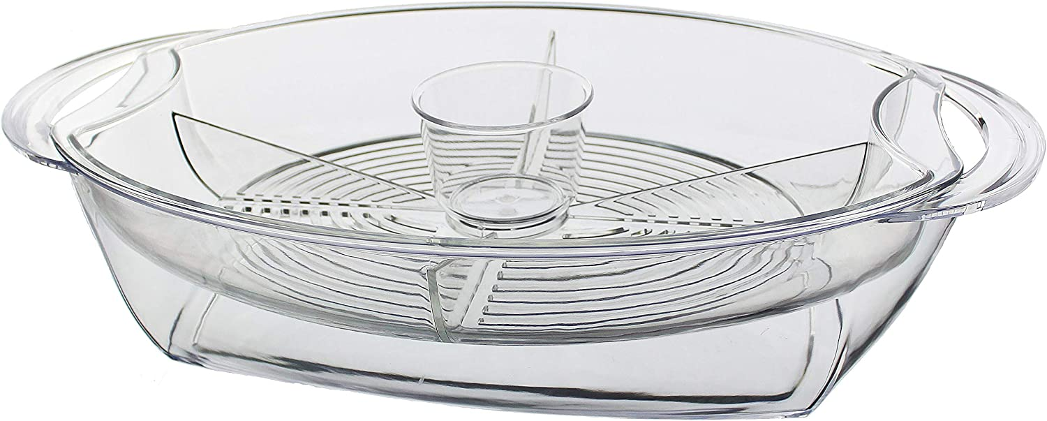 "Prodyne Buffet on ice, 19.75"" x 11.75"", Clear"