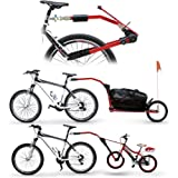Peruzzo Trail-Angel Bicycle Towbar Trailer Red