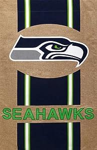 """Team Sports America NFL Seattle Seahawks Burlap House Flag, 29"""" x 43""""/Medium, Multicolored"""