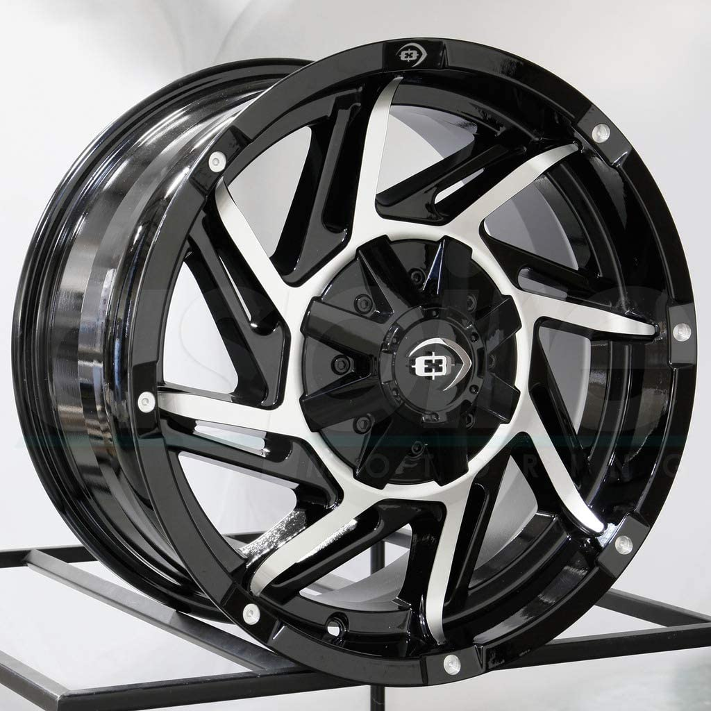 Vision 422 Prowler 17x9 6x139.7//6x5.5 12mm Black//Machined Wheel Rim