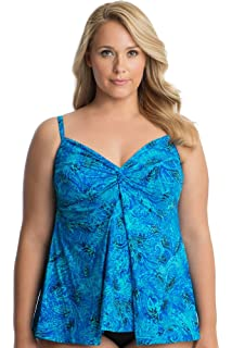 20a7d3f67d Miraclesuit Floral Majority Plus Size Roswell Tankini Top Size 20W ...
