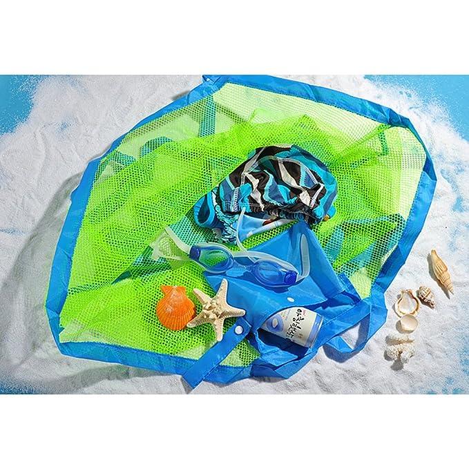 YeahiBaby 2 unids Bolsa de Malla de Playa a Prueba de Agua Juguetes de Arena Bolsa de Shell para Playa Familia Niños Jugar (Tamaño Pequeño y Tamaño Grande ...