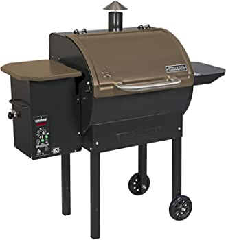 Camp Chef SmokePro DLX Pellet Grill - Bronze, Stainless Steel, Black