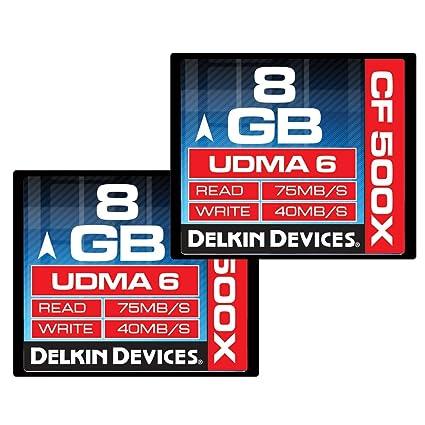 Delkin 8GB CF 500X UDMA 6 memoria flash CompactFlash ...