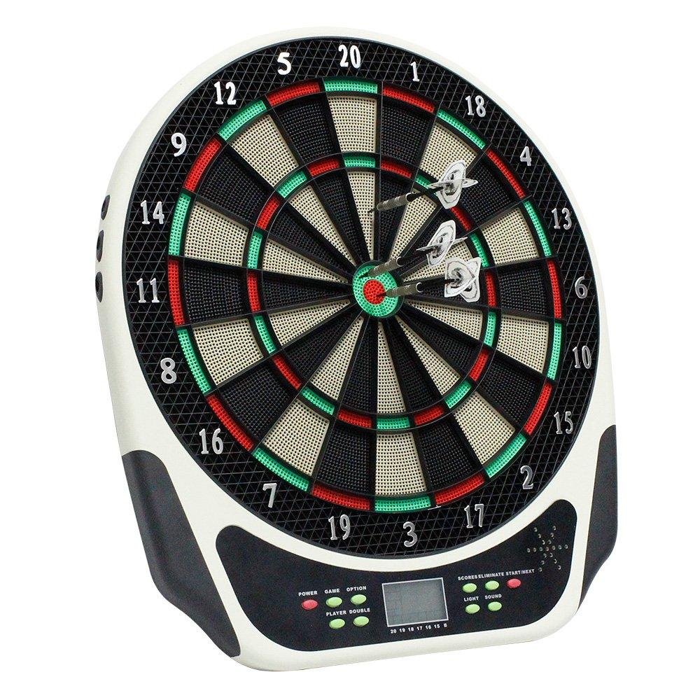 BAODE Dartboard Electronic Sports Leisure Dartboard Electrónico LCD con 6 Dardos 43 cm para 1-8 Jugadores e Dardos