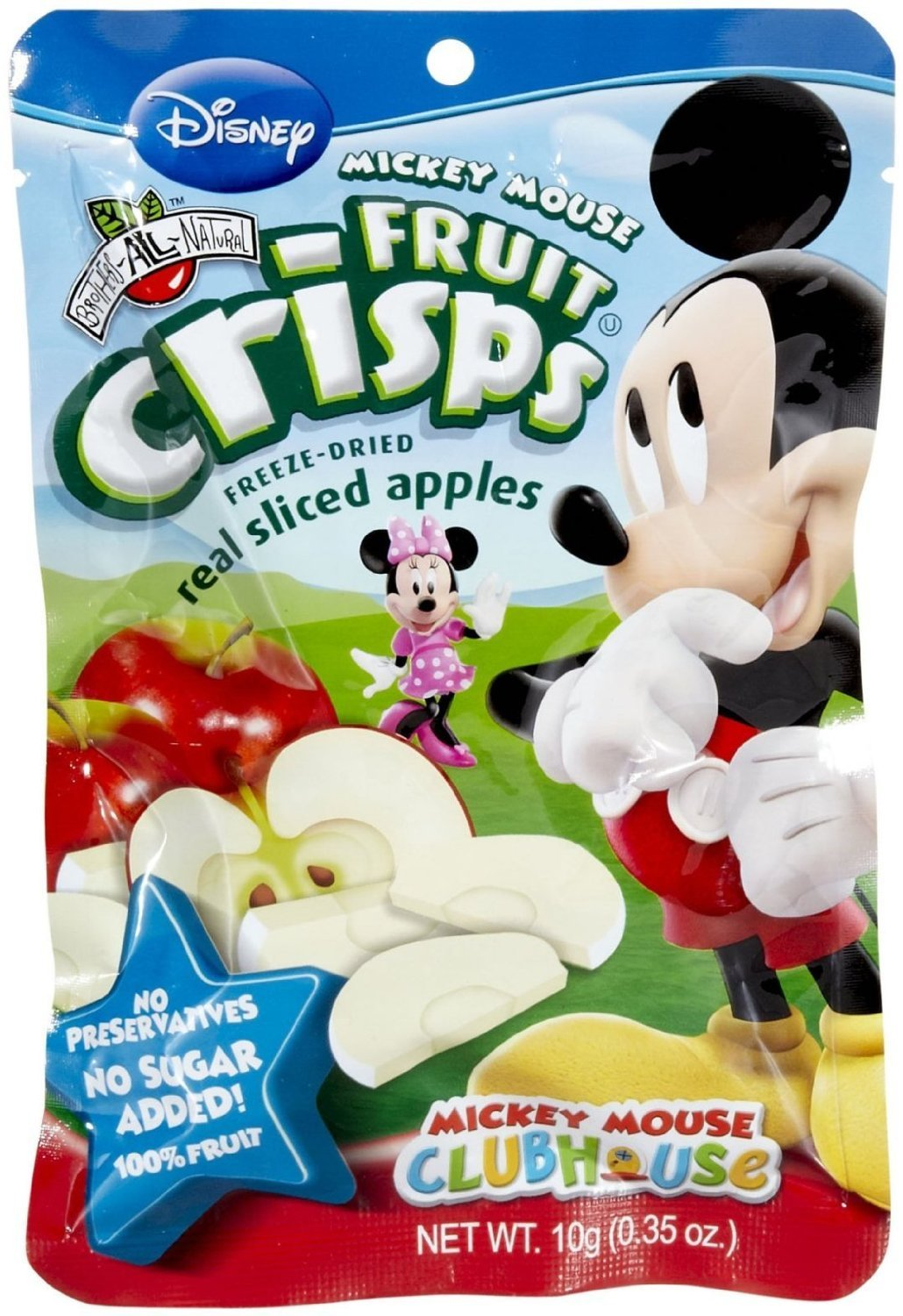 Brothers-ALL-Natural Freeze Dried Fruit Crisps Disney Mickey Mouse Sliced Apples 12 Pack, .35 Oz. Ea. (12 Bags Total) by Brothers