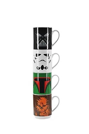 Star Wars STMGSW01 Tassen Set, Porzellan, 4 Einheiten, 36 x 10 x 8 ...