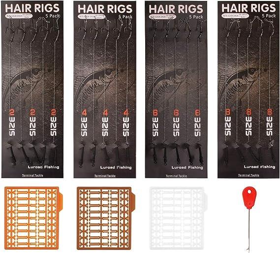 100Pcs TPR Hair Rig Fishing Boilie Stops Dumbell Bait Carp Rig K5W3 H2X6