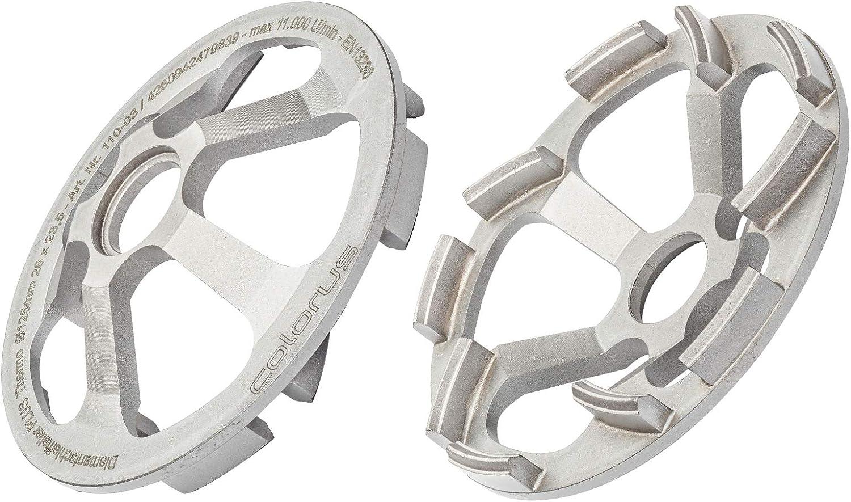 Colorus Diamant Schleifteller Beton Thermo PLUS 125 mm x 23,5 mm Beton-Schleifscheibe f/ür Schleifarbeiten Betonschleiftopf f/ür Beton-Giraffe/® WST 1000 FV Vergleichstyp Flex 323071