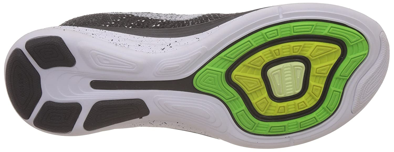 NIKE Women's Flyknit Lunar3 Running/Training Shoes Fog-wolf B00K6Z01ZI 11.5 D(M) US|Black/White-mid Fog-wolf Shoes Grey 873111