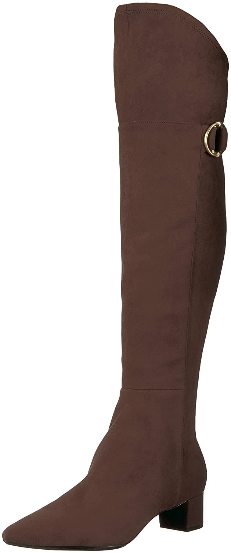 Calvin Klein Women's Georgeanna Over The Knee Boot B073WMT977 7.5 B(M) US|Brown