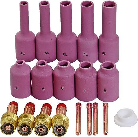 4pcs TIG Welding Collet 10N22 10N23 10N24 10N25 Fit for WP17 18 26 Torch ut