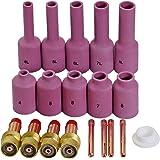 TIG Largo lente de gas Coronilla Largo Copa de alúmina Kit Ajuste DB SR WP 17