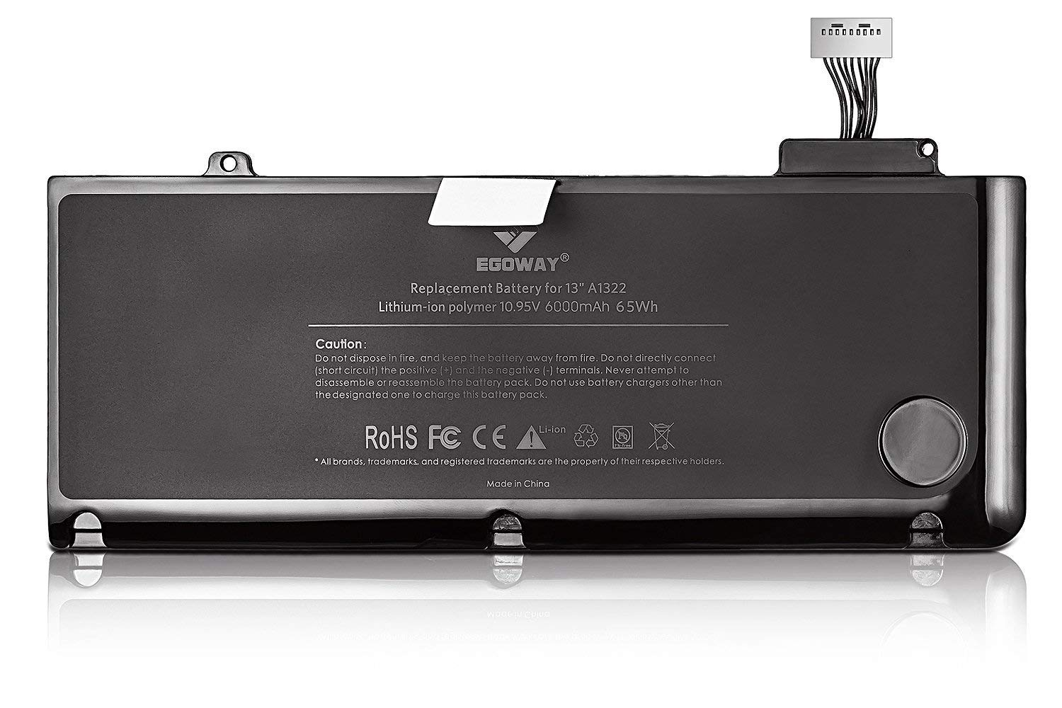 E EGOWAY Laptop Battery (10.95V 6000mAh) Replacement for MacBook Pro 13 Inch A1322 A1278 by E EGOWAY (Image #3)