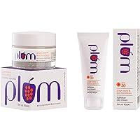 Plum Grape Seed and Sea Buckthorn Nurturance Night Cream, 50ml and Plum Grape Seed and Sea Buckthorn Light Stay Day Cream SPF30, 60ml