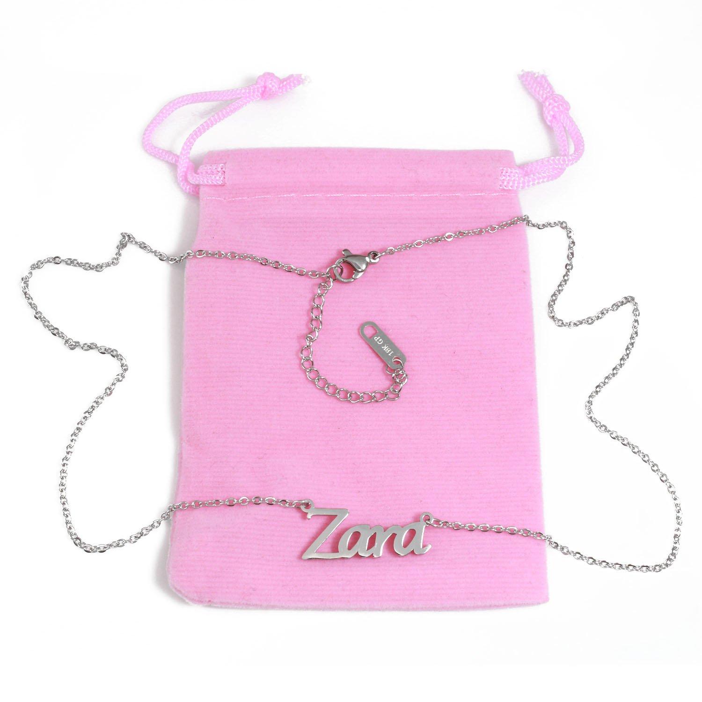 Zara Name Necklace Silver Tone
