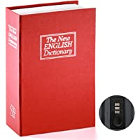 Book Safe with Combination Lock - Jssmst Home Dictionary Diversion Metal Safe Lock Box 2017, SM-BS0404L, red Large