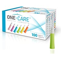 ONE-Care® Safety Lancets, Contact-Activated, 23G x 2.2mm, 100ct