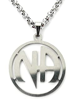 Narcotics Anonymous Charm Pendant 12 Step Drug Abuse Stay Clean NA Necklace