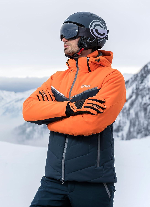 COLMAR Kandahar SKI Jacket, Giacca Uomo, Nero Blu, 46
