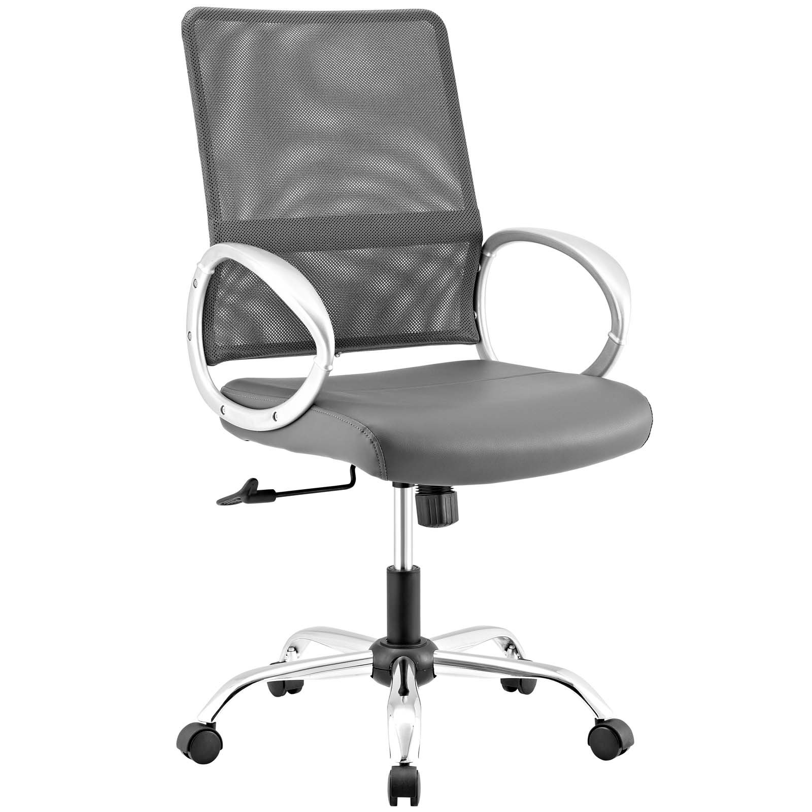 Modway EEI-2861-GRY Command Mesh and Vinyl, Office Chair, Gray
